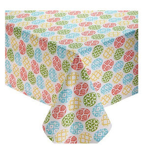 ccd37fcec4 Colorful Easter Egg Lattice Tablecloth.